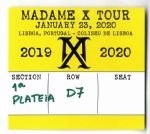 MADAME X TOUR - LISBON COLISEU DE LISBOA SEAT TICKET